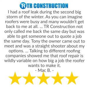 Fix roof leak review